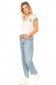 Dolly Sports | Mesh T-shirt Martina | roze  | Afbeelding 3