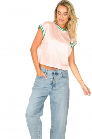 Dolly Sports | Mesh T-shirt Martina | roze  | Afbeelding 4