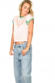 Dolly Sports | Mesh T-shirt Martina | roze  | Afbeelding 5