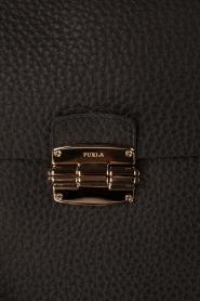 Furla | Leren schoudertas Club M | zwart  | Afbeelding 5