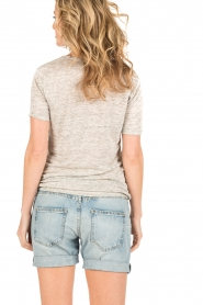 By Malene Birger | Linnen T-shirt Jyttio | grijs  | Afbeelding 5