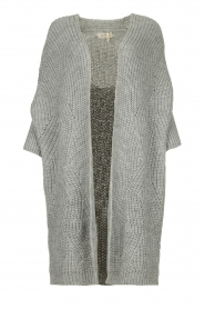 Be Pure |  Knitted kimono cardigan Kim | grey  | Picture 1