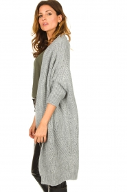 Be Pure |  Knitted kimono cardigan Kim | grey  | Picture 5