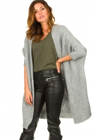 Be Pure |  Knitted kimono cardigan Kim | grey  | Picture 2