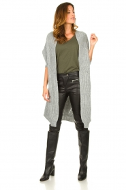 Be Pure |  Knitted kimono cardigan Kim | grey  | Picture 3