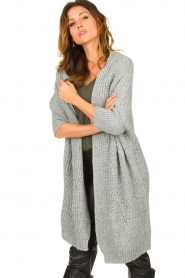 Be Pure |  Knitted kimono cardigan Kim | grey  | Picture 4