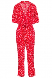 Patrizia Pepe |  Jumpsuit with dots print Orelia | red  | Picture 1