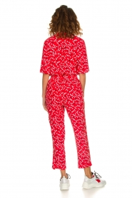 Patrizia Pepe |  Jumpsuit with dots print Orelia | red  | Picture 5