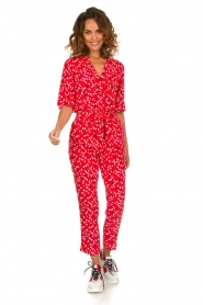 Patrizia Pepe |  Jumpsuit with dots print Orelia | red  | Picture 3