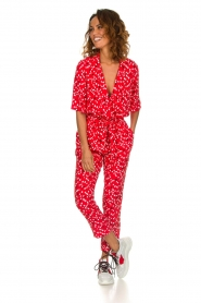 Patrizia Pepe |  Jumpsuit with dots print Orelia | red  | Picture 2