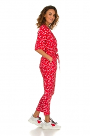 Patrizia Pepe |  Jumpsuit with dots print Orelia | red  | Picture 4