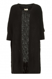 Be Pure |  Knitted kimono cardigan Kim | black  | Picture 1