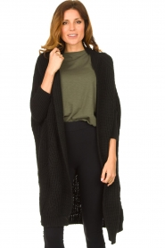 Be Pure |  Knitted kimono cardigan Kim | black  | Picture 2