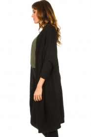 Be Pure |  Knitted kimono cardigan Kim | black  | Picture 5