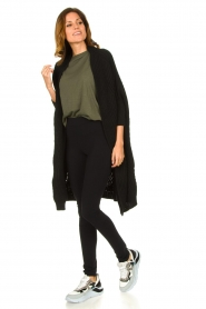 Be Pure |  Knitted kimono cardigan Kim | black  | Picture 3