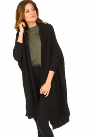 Be Pure |  Knitted kimono cardigan Kim | black  | Picture 4