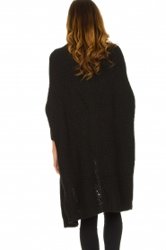 Be Pure |  Knitted kimono cardigan Kim | black  | Picture 6