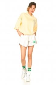 Dolly Sports | Basic trui met hemdkraag William | geel  | Afbeelding 3