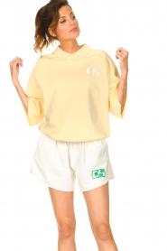 Dolly Sports | Basic trui met hemdkraag William | geel  | Afbeelding 4