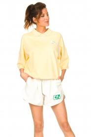 Dolly Sports | Basic trui met hemdkraag William | geel  | Afbeelding 2