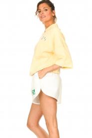 Dolly Sports | Basic trui met hemdkraag William | geel  | Afbeelding 6