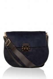 Leather shoulder bag Club M | blue