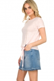 BLAUMAX | Linnen T-shirt Alicia | roze  | Afbeelding 4