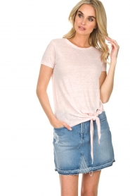 BLAUMAX | Linnen T-shirt Alicia | roze  | Afbeelding 3
