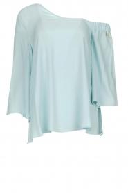 Patrizia Pepe | Off-shoulder top Serena | blauw  | Afbeelding 1