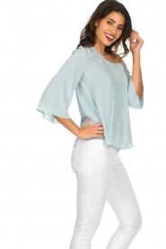 Patrizia Pepe | Off-shoulder top Serena | blauw  | Afbeelding 5