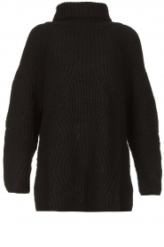 Be Pure |  Oversized turtleneck sweater Lola | black  | Picture 1