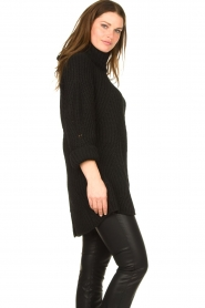 Be Pure |  Oversized turtleneck sweater Lola | black  | Picture 6