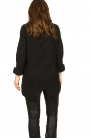 Be Pure |  Oversized turtleneck sweater Lola | black  | Picture 7
