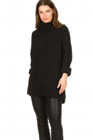 Be Pure |  Oversized turtleneck sweater Lola | black  | Picture 2