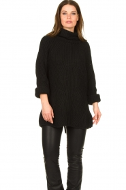 Be Pure |  Oversized turtleneck sweater Lola | black  | Picture 5