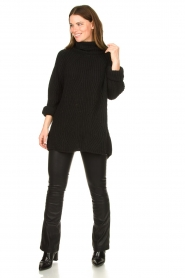 Be Pure |  Oversized turtleneck sweater Lola | black  | Picture 3