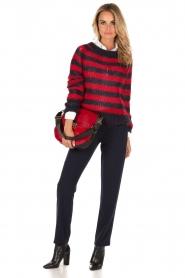 Furla | Leren schoudertas met ponyhair Club M | rood  | Afbeelding 2