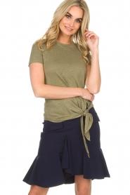 BLAUMAX | Linnen T-shirt Alicia | groen  | Afbeelding 4