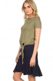 BLAUMAX | Linnen T-shirt Alicia | groen  | Afbeelding 5