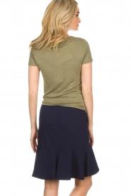 BLAUMAX | Linnen T-shirt Alicia | groen  | Afbeelding 6