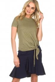 BLAUMAX | Linnen T-shirt Alicia | groen  | Afbeelding 2