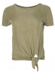 BLAUMAX | Linnen T-shirt Alicia | groen  | Afbeelding 1