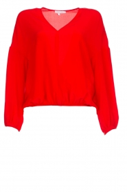 Patrizia Pepe |  Silk blouse Kiara | red  | Picture 1