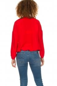 Patrizia Pepe   Zijden blouse Kiara   rood    Afbeelding 5