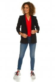 Patrizia Pepe   Zijden blouse Kiara   rood    Afbeelding 3