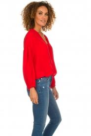 Patrizia Pepe   Zijden blouse Kiara   rood    Afbeelding 4