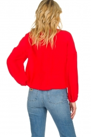 Patrizia Pepe |  Silk blouse Kiara | red  | Picture 5