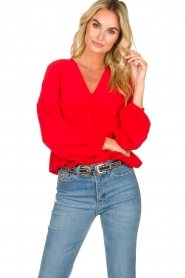 Patrizia Pepe |  Silk blouse Kiara | red  | Picture 2