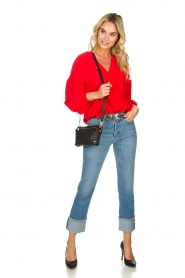 Patrizia Pepe |  Silk blouse Kiara | red  | Picture 3