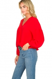 Patrizia Pepe |  Silk blouse Kiara | red  | Picture 4